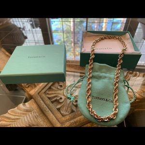 Tiffany & co. New 18k gold 925 silver necklace and